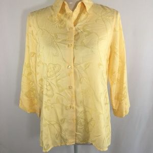 Alfred Dunner Womens Size 6P Button Down Shirt